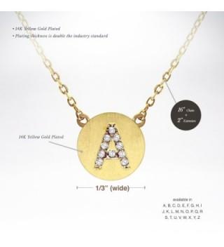 PAVOI Simulated Diamond Alphabet Necklace in Women's Pendants