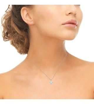 Sterling Simulated Solitaire Necklace Earrings in Women's Jewelry Sets
