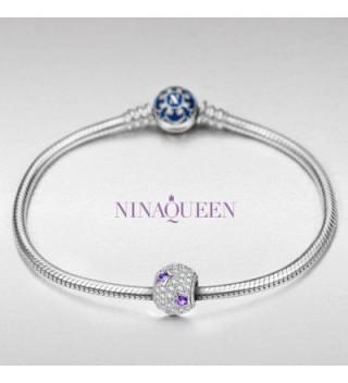 NinaQueen Sterling Zirconia Christmas Anniversary in Women's Charms & Charm Bracelets