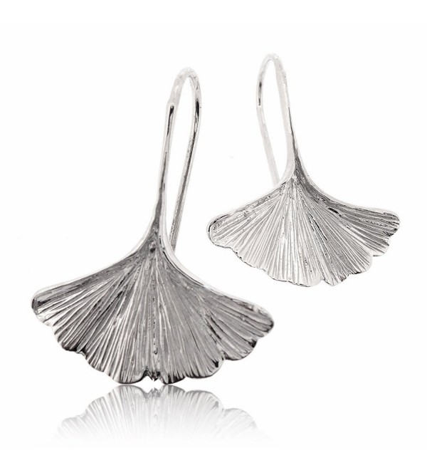 Sovats Ginkgo Earring Sterling Rhodium - CN122O1UHXT