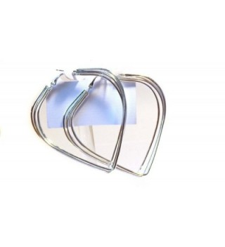 Large Hoop Earrings 3 Inch Hoop Earrings Triple Hoop Heart Shape - CB126URO2YD
