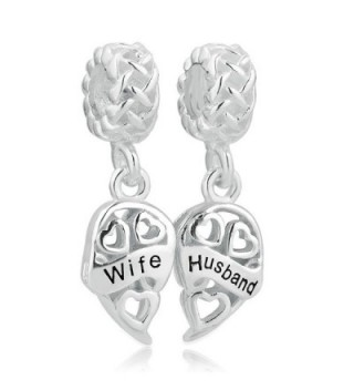 LovelyJewelry Sterling Silver Wife & Husband Charms Two Piece Love Family Celtic Knot Dangle For Bracelets - C912CEHDXYN