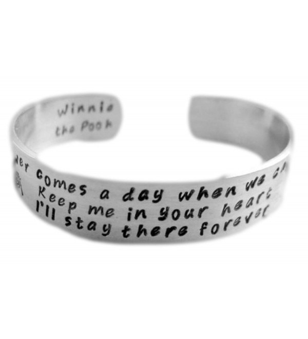 Winnie the Pooh Inspired Romantic Bracelet - Keep Me in Your Heart - 1/2-inch Aluminum Cuff - CZ11JO9QQ0D