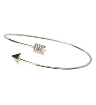 ARINLA Simple Bracelet Arrow Open Bangles Cuff Jewelry Gift - Silver - C3185ADYDTI