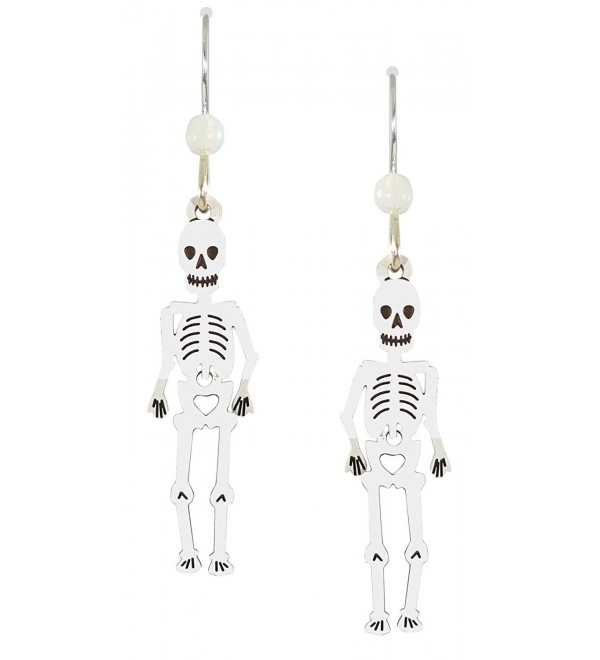 Sienna Sky Handpainted Halloween Skeleton Earrings 1088 - C8122GGD0UT