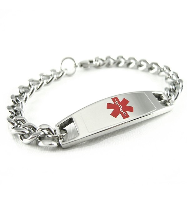 MyIDDr - Pre-Engraved & Customizable Blood Thinners Medical Bracelet- Medic ID Card Incld - CF11CKBV1V1