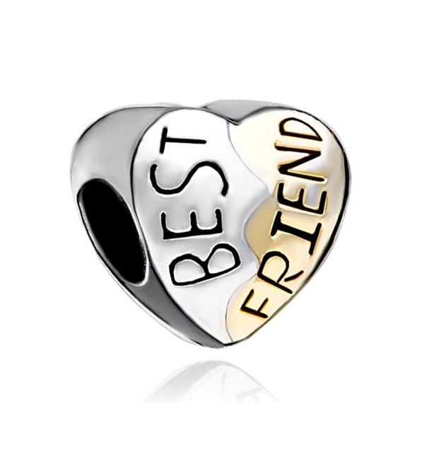 LuckyJewelry Heart Best Friend Bead On Sale Fits Pandora Charm Bracelet - CF12M2P7D25