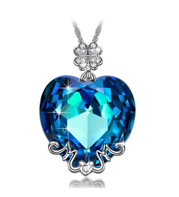 LadyColour Necklace Swarovski Crystals Valentines - C212F9K14RP