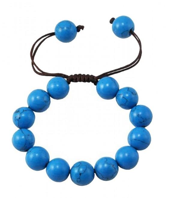 Drawstring Round Beads Beaded Handmade Macrame Fashion Bracelet - CO119UWX2S3