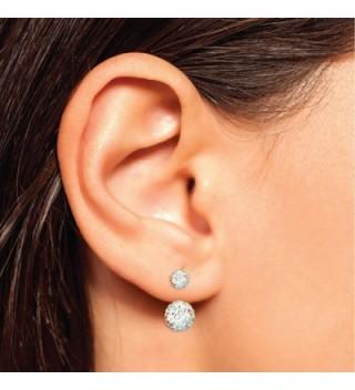 BodyJ4You Earrings Reverse Crystal Jewelry