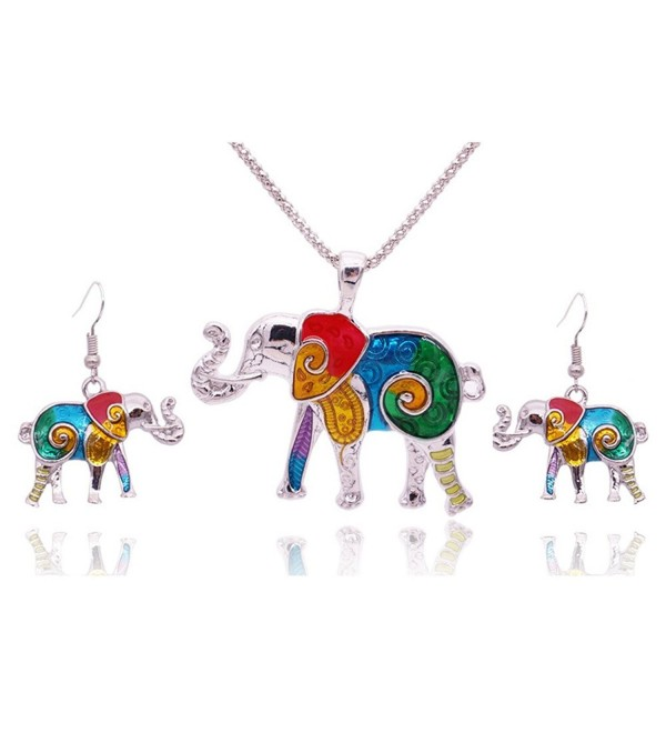 Miraculous Garden Elephant Enameled Necklace - CC12NSNCBB2