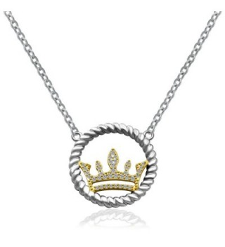 Crown Pendant and Necklace in SOLID SILVER .925 Sterling Silver D32