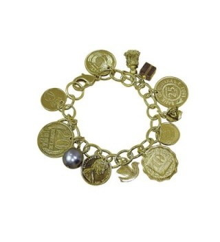 American Coin Treasures Gold Layered Bracelet in Women's Charms & Charm Bracelets