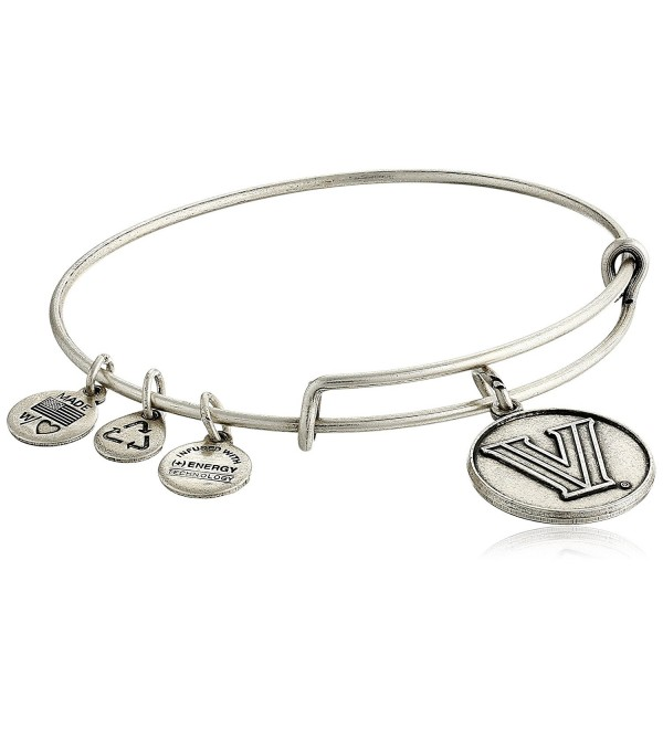 Alex and Ani Villanova University Logo Expandable Bangle Bracelet - Rafaelian Silver - CA11LTRWAVB