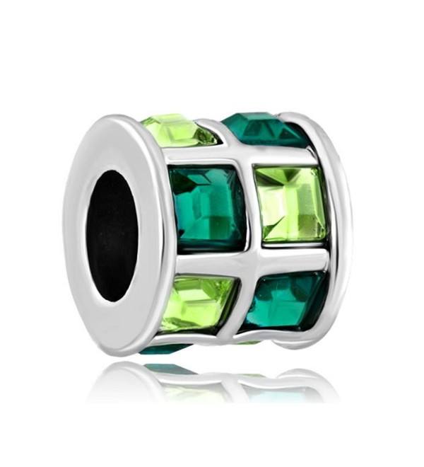 QueenCharms Multicolor Crystal Spacer Charm Beads For Bracelets - Green - CU186N6KKXU