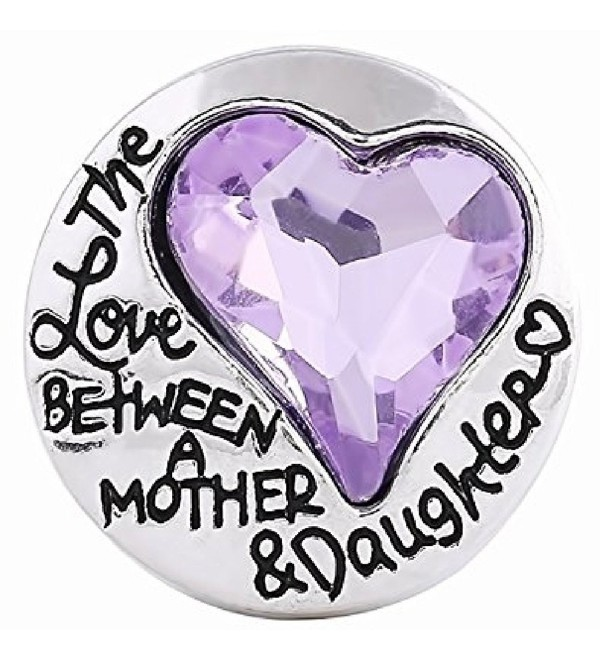 Interchangeable Snap JewelryHeart Love between Mother & Daughter 18-20mm by My Gifts - CD182MK3CRN