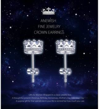 ANEWISH Jewelry Zirconia Sterling Earrings