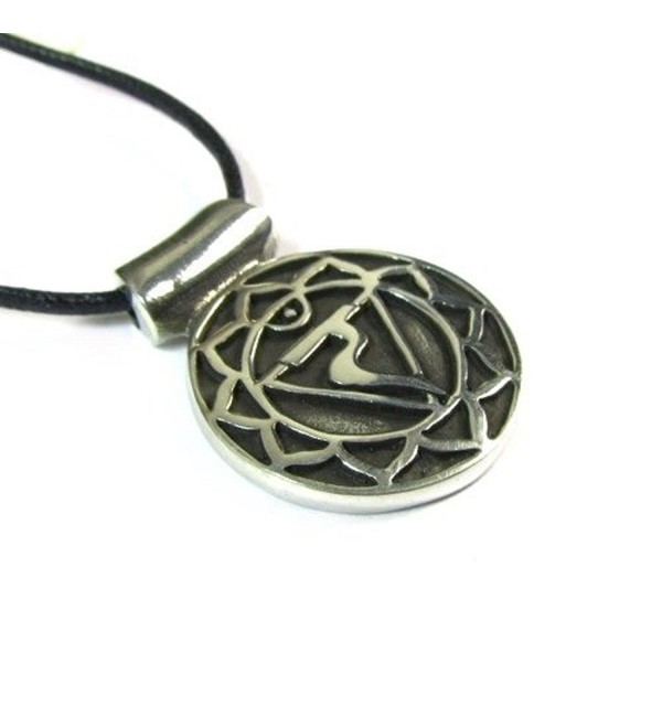 Manipurana- the Solar Plexus Chakra Pendant on Corded Necklace - CH1159GYX2D