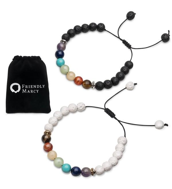 Chakra Stones Essential Diffusers Bracelets - C71888G4MOQ