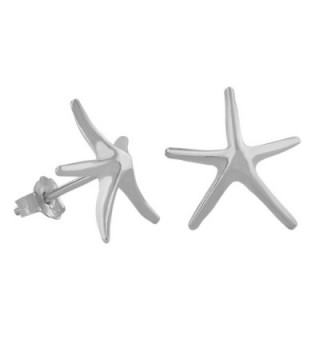 Sterling Silver Starfish Stud Earrings - CT113ZSN1R5