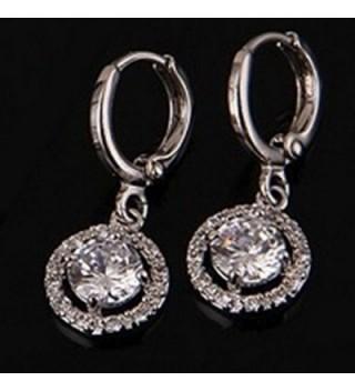 YAZILIND Jewelry Silver Zirconia Earrings
