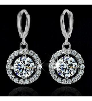 YAZILIND Jewelry Silver Zirconia Earrings in Women's Drop & Dangle Earrings
