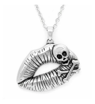 """Controse Women's Silver-Toned Stainless Steel Poisonous Kiss Necklace 28"""" - CN12GK5DKWZ"""