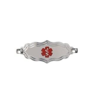 Divoti Custom Engraved 316L Victorian Art Deco Medical ID Tag for Interchangeable Medical ID Bracelet - CA186TZ8IGL