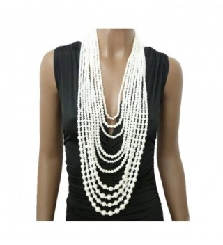 Multi Strand Simulated Statement Necklace Earrings