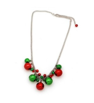 Christmas Jingle Bells Necklace Holiday in Women's Chain Necklaces