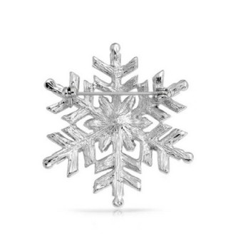 Bling Jewelry Simulated Snowflake Rhodium in Women's Brooches & Pins