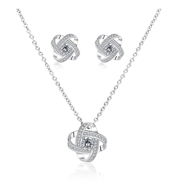 Hanloud Forever Necklace Earings Valentines - Silver 3 - CB18800OW3U