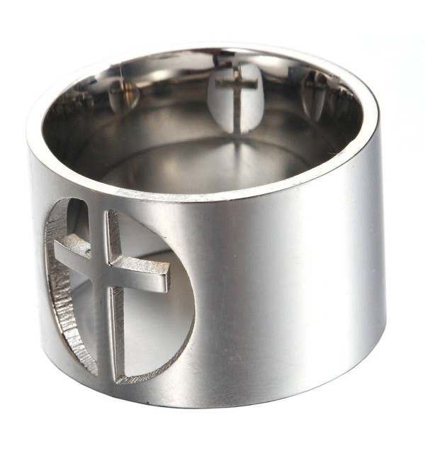 HIJONES Womens Stainless Polished Comfort - silver-and-stainless-steel - CQ1872QZRDA