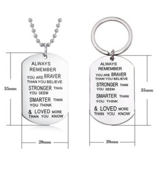 Remember Necklace Keychain Inspirational Christmas