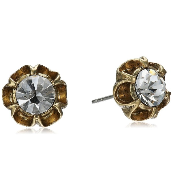 1928 Jewelry Post Stud Earrings - Crystal - CW111TRQ6CV