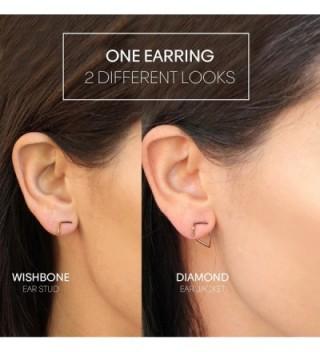 Wishbone Engagement Anniversary Graduation Valentines in Women's Stud Earrings