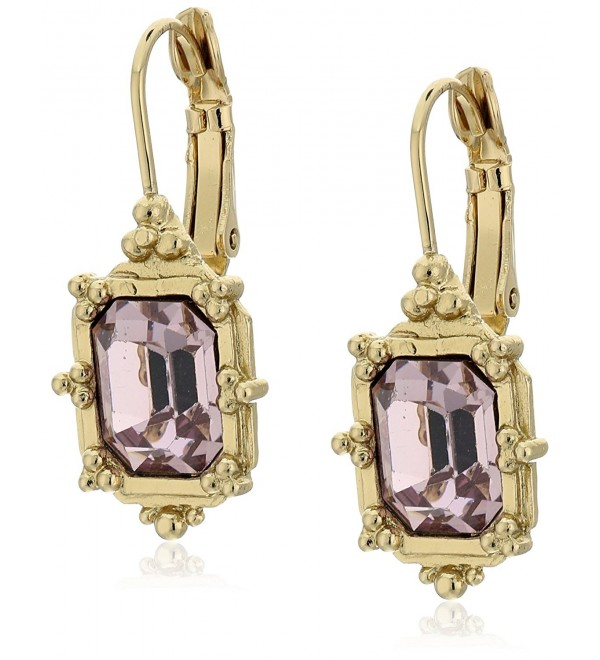 1928 Jewelry Faceted Square Drop Earrings - Light Purple - CJ128X3R48D