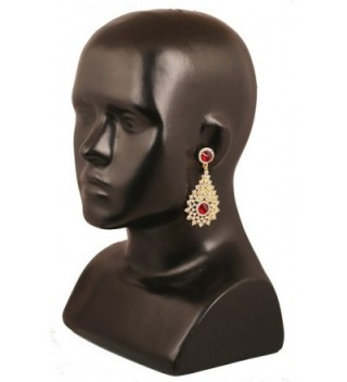 Touchstone Bollywood Rhinestone designer earrings
