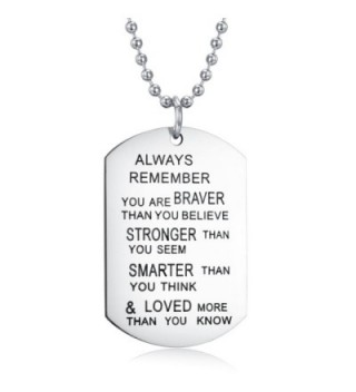 Remember Necklace Keychain Inspirational Christmas in Women's Pendants