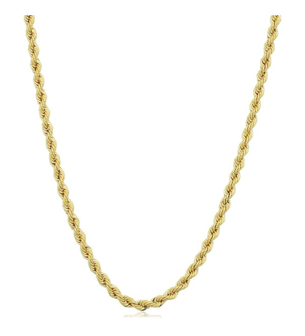 14k Yellow Gold Filled Unisex 2.1mm Rope Chain Necklace (16- 18- 20- 22- 24- 26- 30 or 36 inch) - C812I7463MB