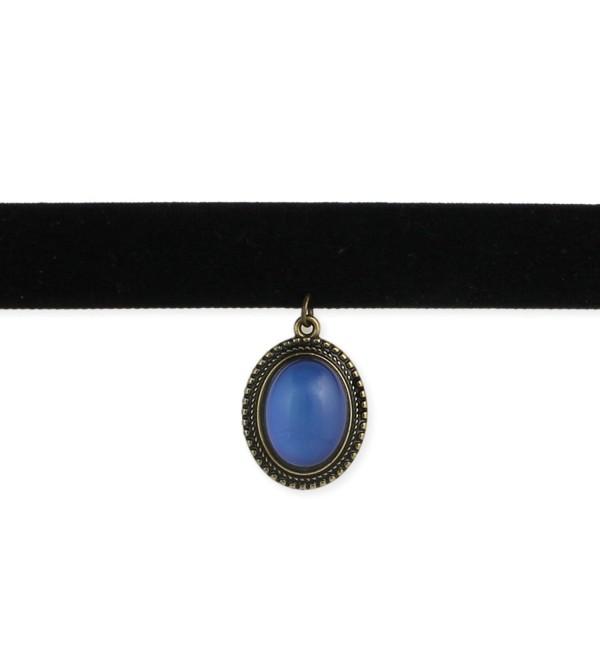 Classic Black Velvet Mood Choker Necklace - Retro 1990's Style - CC12LNT5CZ1