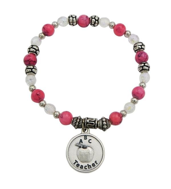 Rosemarie Collections Women's Teacher Appreciation Beaded Stretch Bracelet - C0187Q2XE97