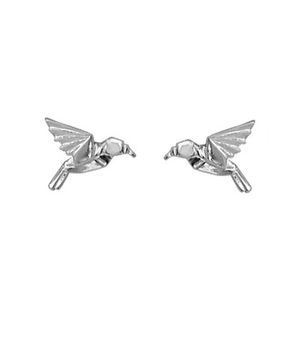 Boma Sterling Silver Origami Hummingbird Studs - CH110A2OCX5