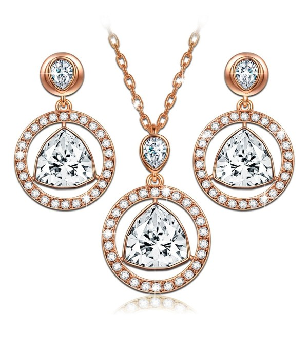 "LadyColour ""Eternal Light"" Necklace Earrings Jewelry Set Made with Swarovski Crystals - Light up your world! - CB188A38G6Y"