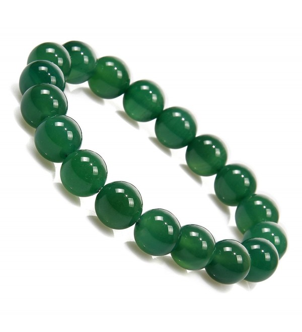 "Antiquity Sian Art 3/8'' Beads Serpentine Charm Jewelry Strength Bracelet 7"" Unisex (10 mm Green) - CH116GB2MTL"