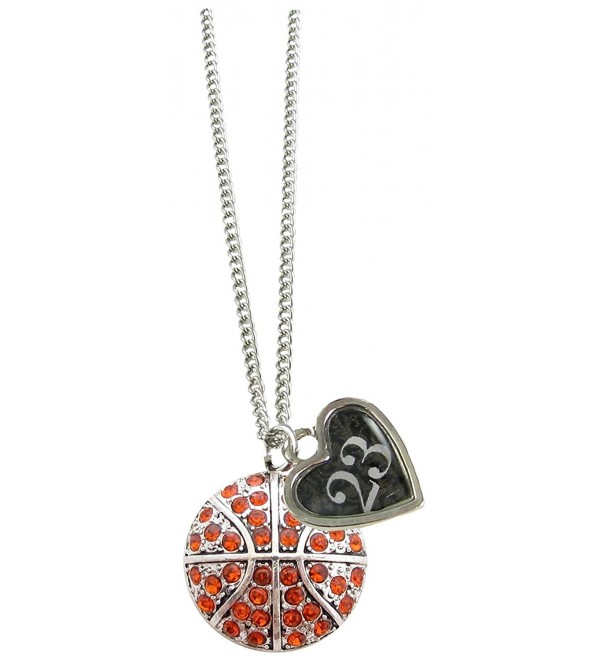 Custom Basketball Crystal Silver Necklace Jewelry Jersey Numbers 00-99 Available - CY18055CQ3R