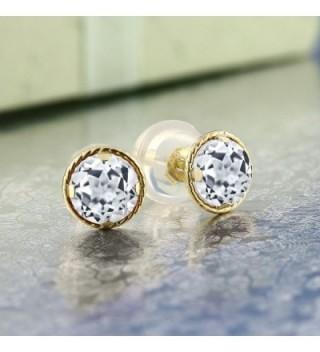 Yellow White Gemstone Birthstone Earrings