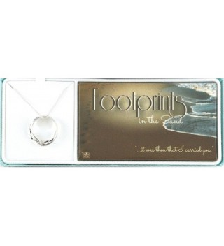 Footprints Engraved Mobius Pendant Necklace in Women's Pendants