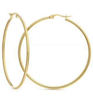 Gold Tone Stainless Steel Earrings Diameter