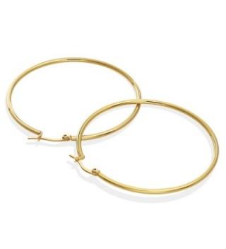 Gold Tone Stainless Steel Earrings Diameter in Women's Hoop Earrings